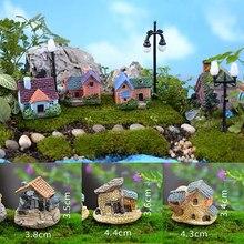 1 шт. винтажная искусственная башня для бассейна миниатюрный домик Сказочный Сад украшение дома мини ремесло Ландшафтный Декор микро