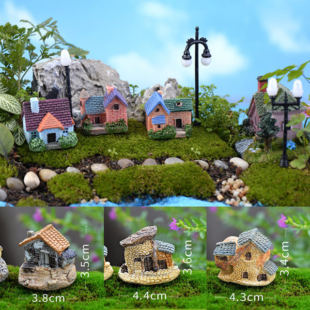 1pcs Vintage Artificial Pool Tower Miniature House Fairy Garden Home Decoration Mini Craft Micro Landscaping Decor 1