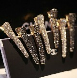 Imitation rhinestone hair accessories hairpin side bangs clip shiny alloy toothed pearl head clip duckbill clip Free Shipping