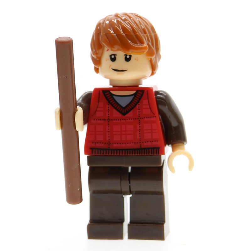 Figuras de la serie Harry magia, figuras de modelos, Hermione Jean Granger Ron Weasley Lord Voldemort, bloques de construcción Diy, juguetes para niños