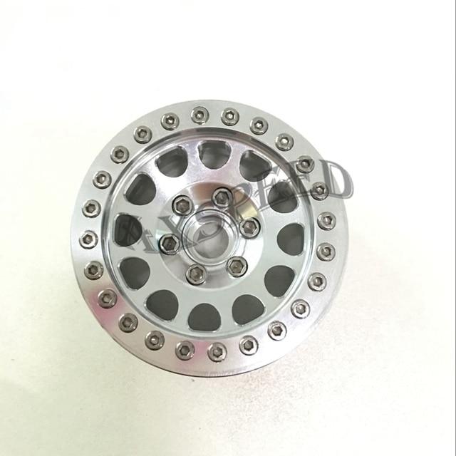 AXSPEED 1.9 Crawler Wheels Alloy Metal Wheel Rim 1.9inch Wheel Rims for 1/10 RC D90 SCX10 CC01 D110 Rock Crawler
