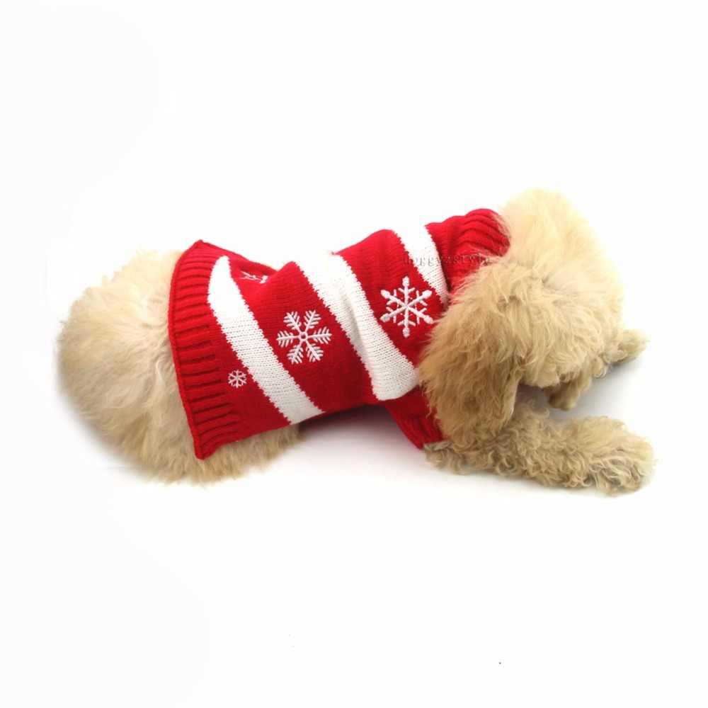 1 шт. Рождественский свитер для собак Рождество Снежинка Собака Кошка зима теплая одежда костюм Джемпер со щенком вязаная одежда XXS-XXL