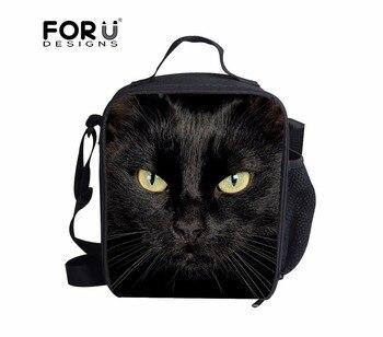 FORUDESIGNS-fiambrera con aislamiento térmico para gatos, lonchera con cremallera para comida exterior,...