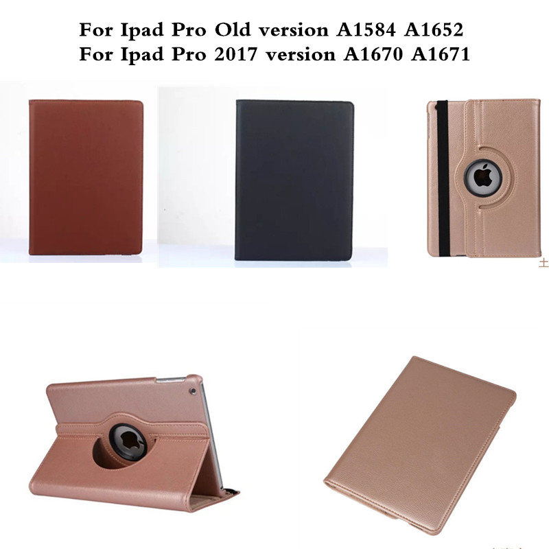 Case for Apple IPad Pro 12.9 inch A1584 A1652 A1670 A1671 Cover Protector Stand PU Leather Luxury 360 Rotating Lichee Cases