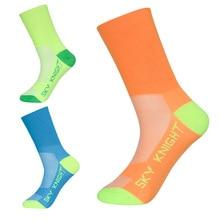 ФОТО autumn and winter high quality sports wearproof socks breathable road bike socks high elastic outdoor sports racing bike socks