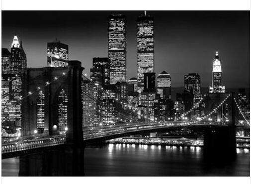 Captivating 2016 New Posters Living Room Wall Stickers Posters New York City Brooklyn  Bridge Night Wall Decals Part 26