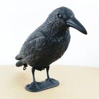 Черная практичная пластиковая ворона имитация для охоты на Черный сад двора птица отпугиватель Scarer Bodied Crow Jackdaw птица охотничья приманка для...