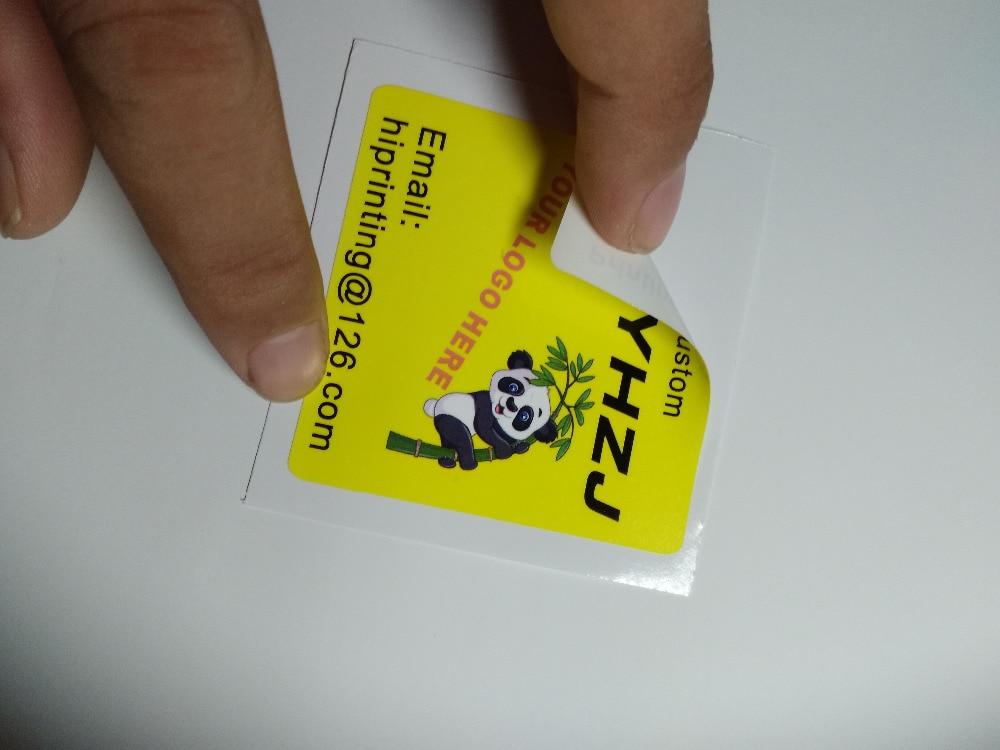"2x4"" vinyl waterproof sticker printing custom-in Stationery Stickers from Office & School Supplies    1"