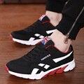 Malla Zapatos de Los Hombres Ocasionales Atan Para Arriba Color Mezclado de Cuero Transpirable Zapatos Para Hombre Entrenadores Sport Zapatos Mujer Negro Canasta Femme Homme