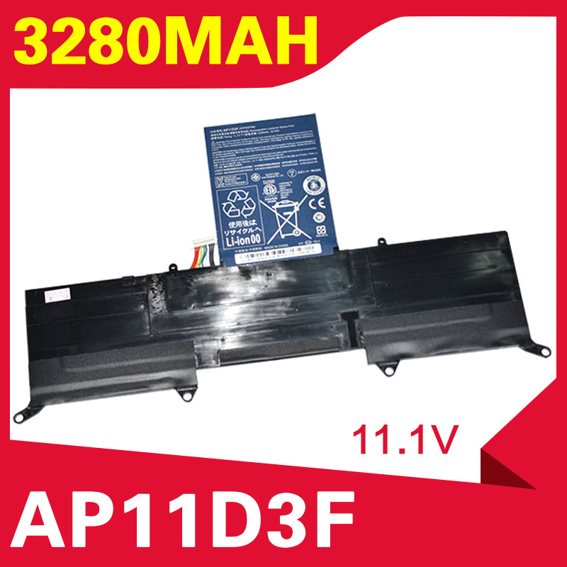 ApexWay 3280mAh laptop battery for Acer Aspire S S3 Ultrabook Series <font><b>AP11D3F</b></font> AP11D4F 3ICP5/65/BB 3ICP5/67/90 image