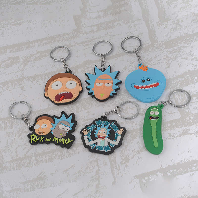 ... Rick and Morty Keychain Pickle Rick Keyring Key Chian TV Show jewelry  Funny jewelry for men ... 1b55f711e8