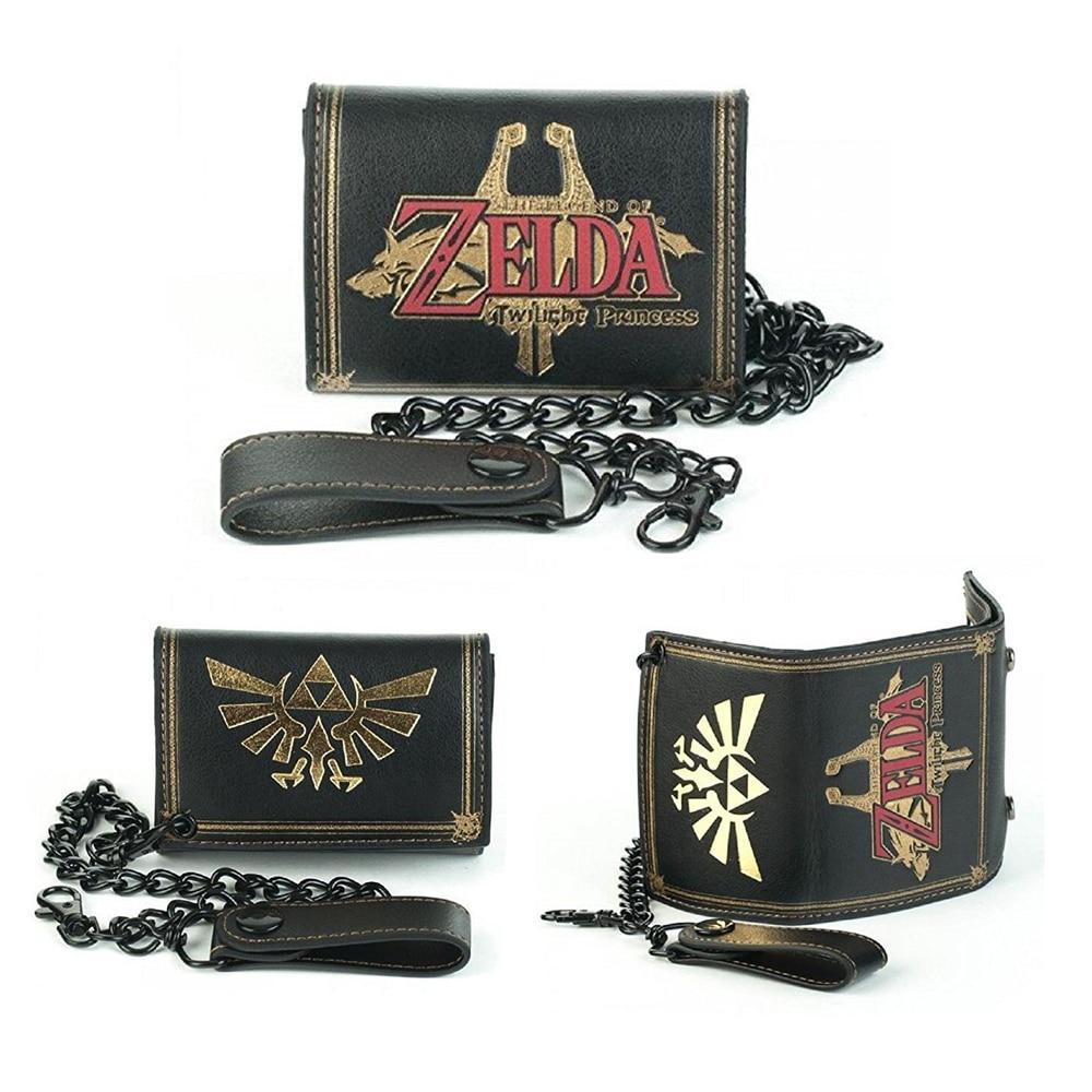 Nintendo Legend of Zelda Twilight Princess Emblem Biker Wallet With Chain men wallet bag цена