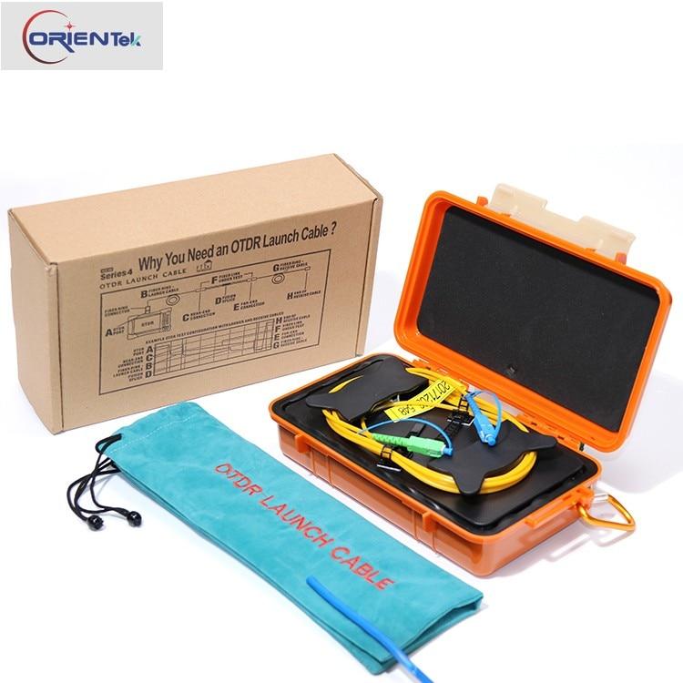 Free shipping FC/UPC-FC/UPC OTDR Dead Zone Eliminator,Fiber Rings Fiber Optic OTDR Launch Cable Box 1km Single Mode 1310/1550nm