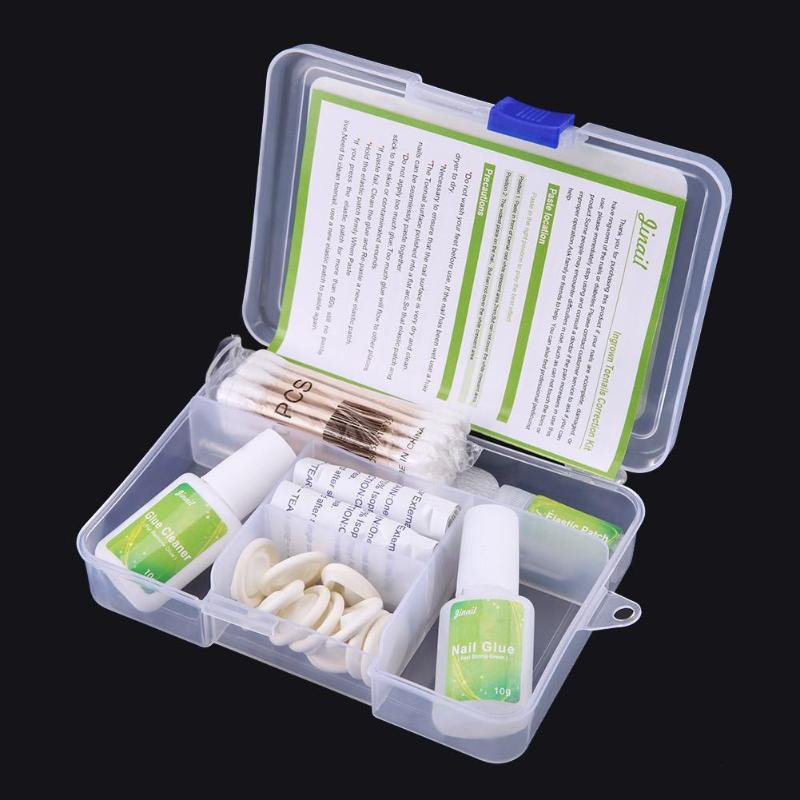 Ingrown Toenail Straightening Clips Patch Nail Glue Pusher File ...