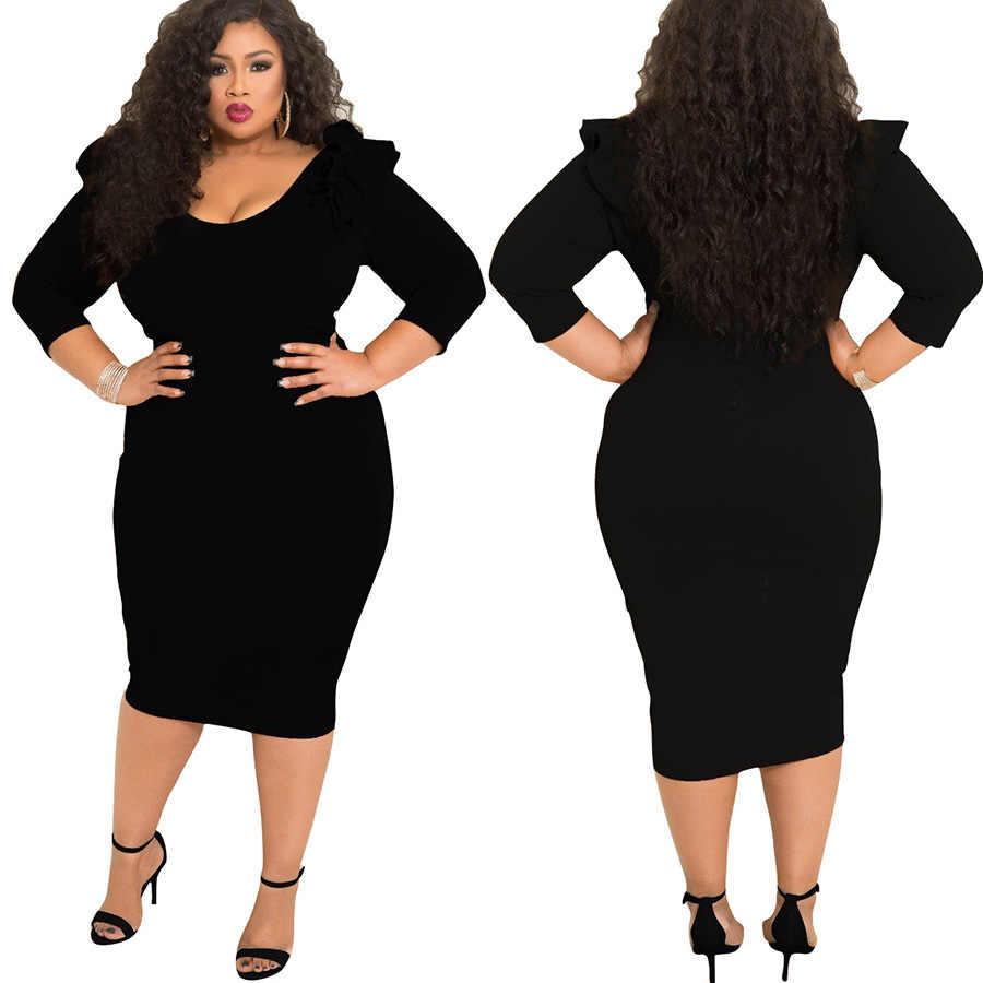 Новый стиль Африканский Для женщин одежда Дашики модные эластичные высококачественного материала Чистый цвет платье размера L, XL 2XL 3XL 4XL 5XL 7071