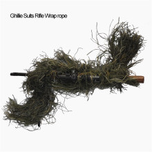 Hunting Rifle Wrap rope grass type Ghillie Suits Gun stuff Cover For camouflage Yowie Sniper Paintball hunting clothing thicker(China)