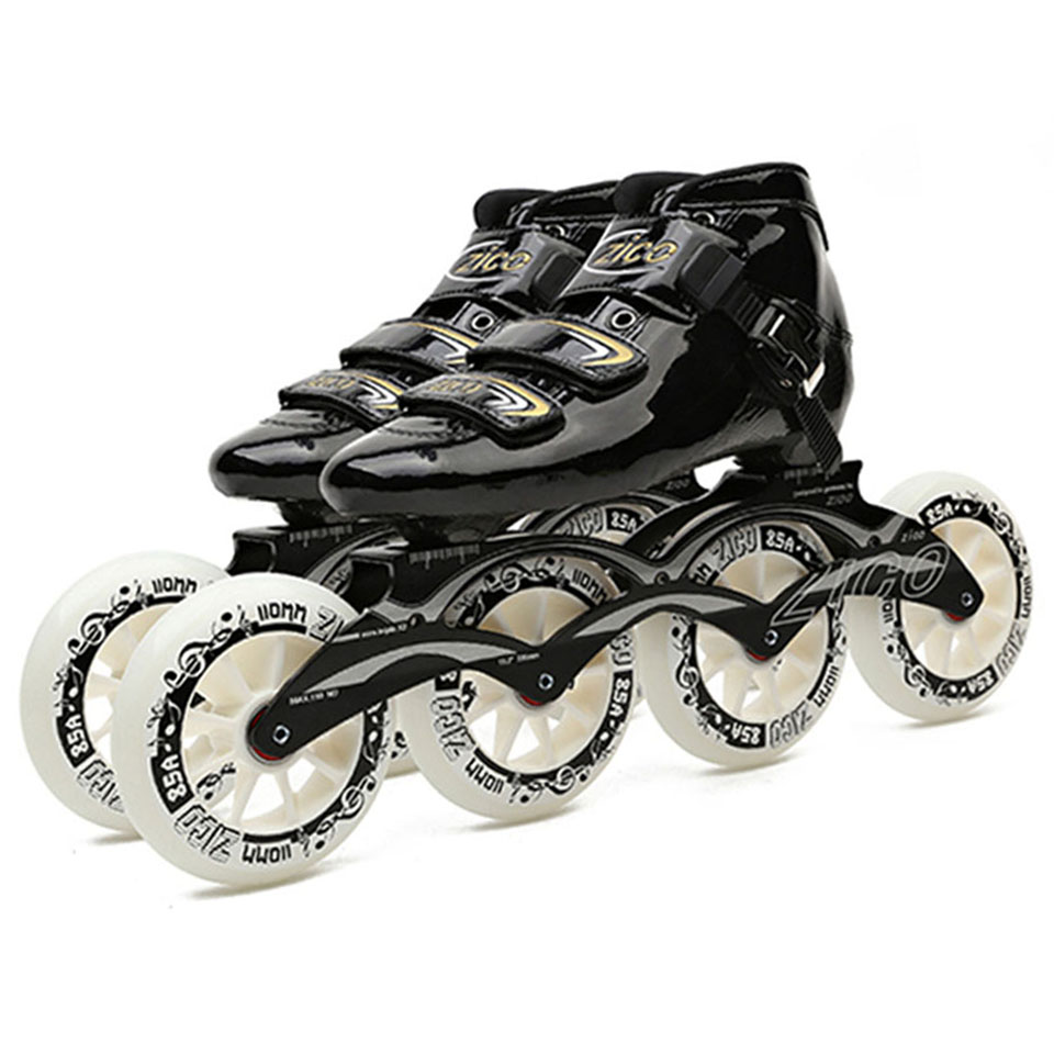 Speed Inline Skates Carbon Fiber 4*90/100/110mm Competition 4 Wheels Street Racing Skating Patines Similar as Powerslide CityRun japy cityrun speed inline skates carbon fiber professional competition skates 4 wheels racing skating patines similar powerslide