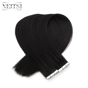 """Image 5 - Neitsi mais novo fita em extensões de cabelo humano remy invisível dupla desenhada amor linha de trama da pele cabelo em linha reta 16 """"20"""" 24 """"disponível"""