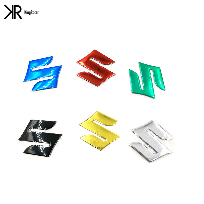 2PCS Motorcycle 3D Stickers Logo Badge For Suzuki Gsxr Decals K1 K10 RM DR Hayabusa GSX R750 R600 600 1000 In Fuel Tank From Automobiles Motorcycles On