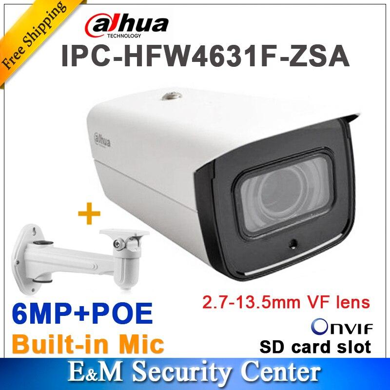 Original dahua IPC HFW4631F ZSA 6MP Network Camera POE IR 2 7 13 5mm VF lens