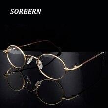 Mulheres redondas óculos ópticos quadros pequenos retro óculos armações masculino vintage óculos claros óculos lunette de vue homme