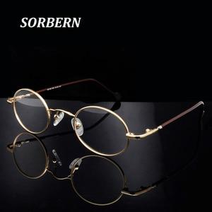 Image 1 - Mulheres redondas óculos ópticos quadros pequenos retro óculos armações masculino vintage óculos claros óculos lunette de vue homme