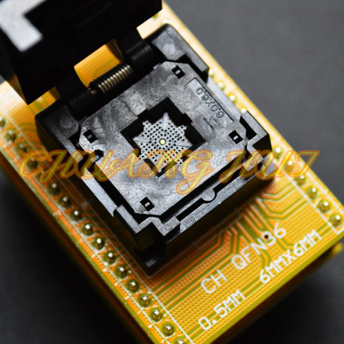 IC TEST Clamshell QFN36 to DIP36 Programmer adapter Pitch=0.5mm Size=6mmx6mm QFN36 DFN36 MLF36 WSON36 IC socket