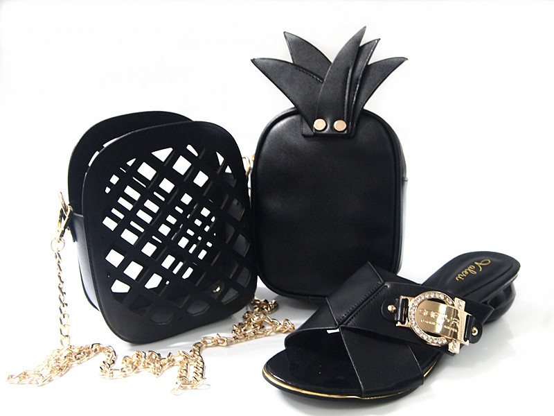 ФОТО New Design Shoes And Matching Bag For Party Lady Women Handbag With Fruit Fashion Design For Women Dress G15