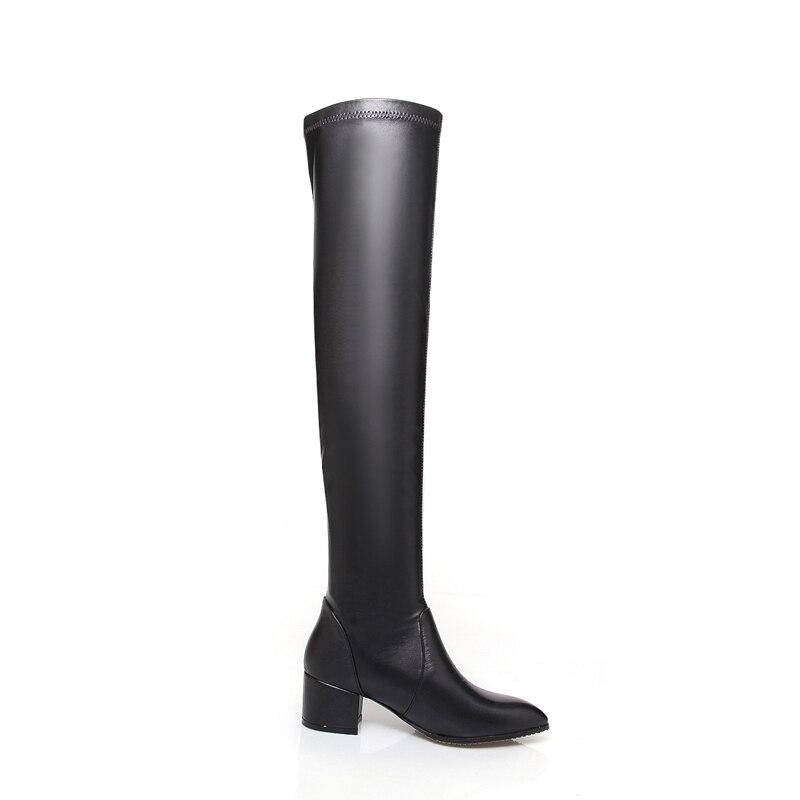 Femmes Genou Zyl1367 Les Bout Cuisse Haute Black Sur Le Pour Filles D'hiver Bottes Anmairon Pointu kXTPuOZi