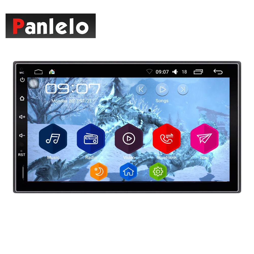 купить Android 6.0 Car Stereo 2 Din Quad Core Head Unit 7'' 1GB/2GB Car Radio Touch Screen Bluetooth Wifi AM/FM/RDS Car GPS Navigation по цене 9509.38 рублей