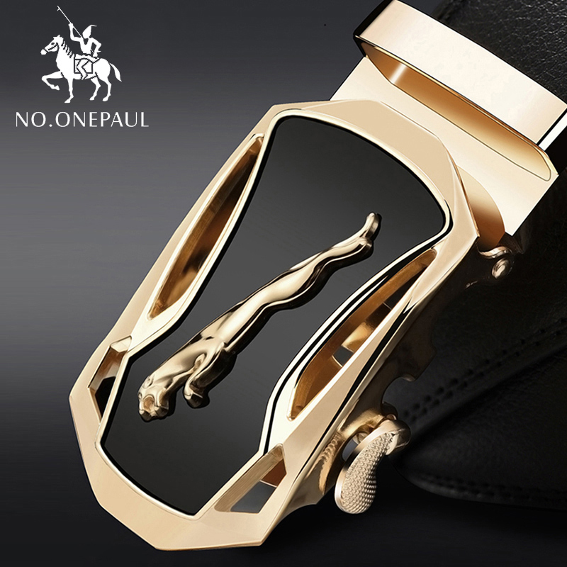 NO.ONEPAUL Fashion Designer Jean Belt Leather Strap Male Automatic Buckle Belts For Men Authentic Girdle Trend Belts Ceinture