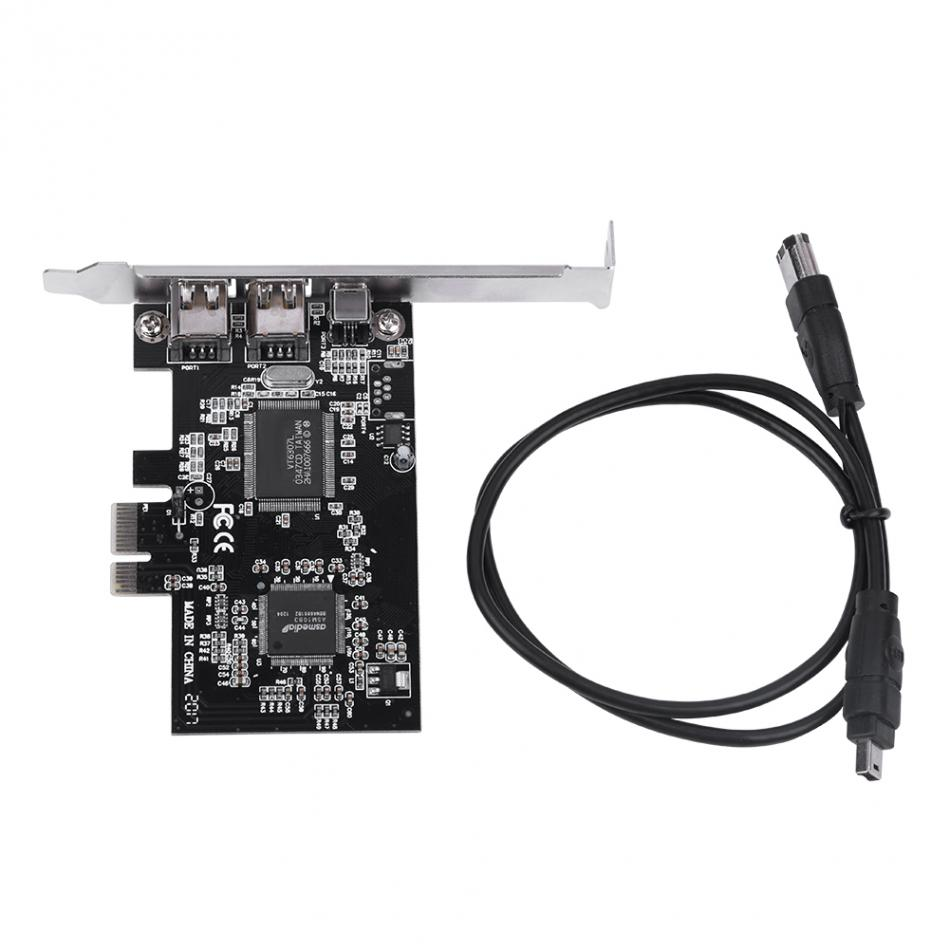 PCI-E PCI Express FireWire 1394a IEEE 1394 Controller Card with Firewire Cable