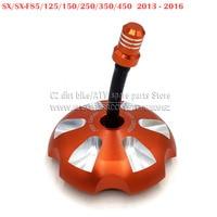 Billet Aluminum Gas Fuel Petrol Tank Cap Cover Fit For KTM SX/SX F85/125/150/250/350/450 13 16 Orange