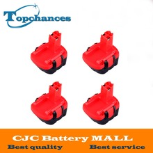 4pcs High Power 12V Ni-CD 2.0Ah Rechargeable Replacement Power Tool for Bosch Battery BAT043 2 607 335 692 22612 Drill Batteries