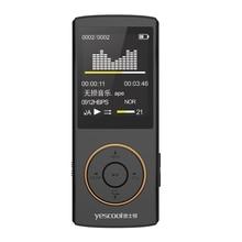 Yescool X1 8GB Профессиональный Портативный Цифровой диктофон Диктофон fm-радио электронная книга HIFI MP3 изображение видео плеер черный