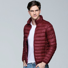 153a2e4244 FaceTheNorthWind light thin short Jackets male Stand collar Loose Outdoor  men down