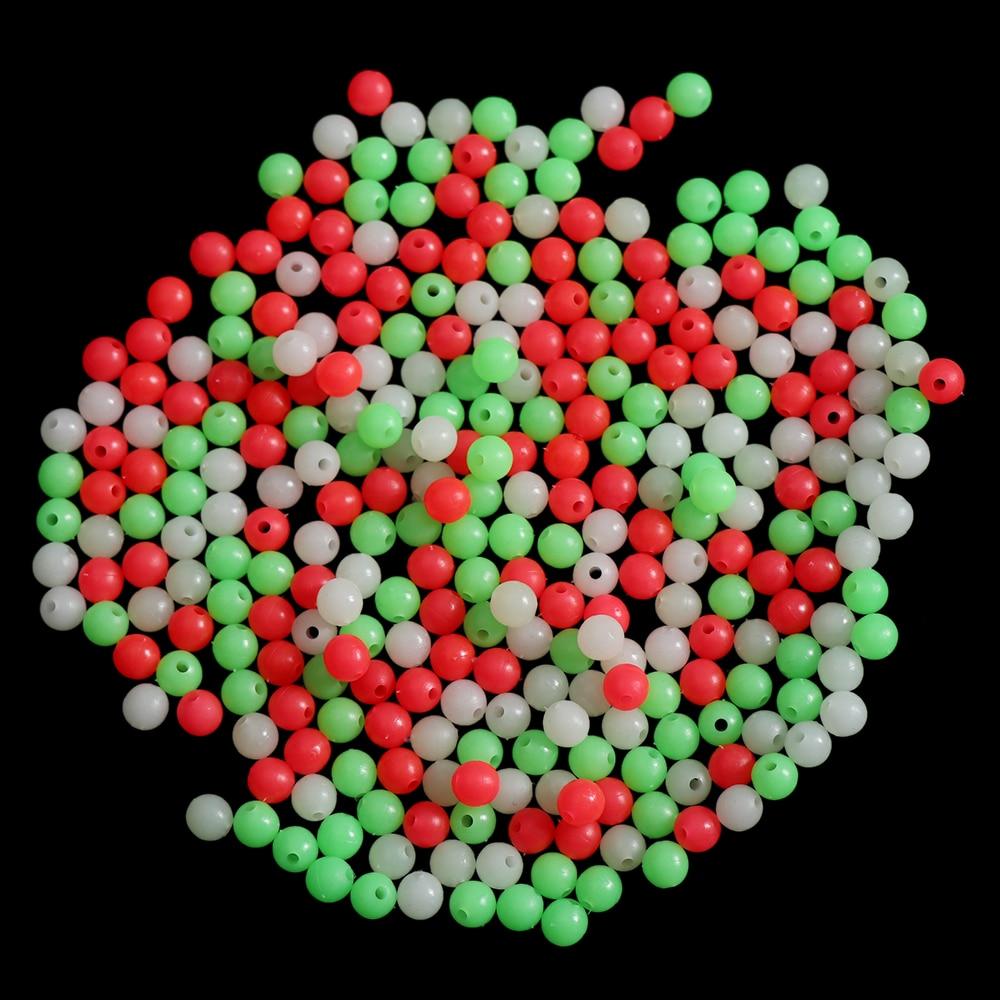Night 4//5//6//8mm Glowing Balls Stoppers Fishing Floats Beads Luminous Light