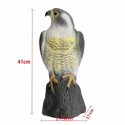 NOCM Large Falcon Decoy Bird Deterrant,Lifelike Full Bodied Bird Of Prey Pest Control Garden Statue Cat And Bird Repeller Gard