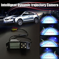 HD Intelligent Dynamic trajectory Sport License Plate Camera Rear View Backup Parking For Hyundai Coupe S3 / Tuscani / Tiburon