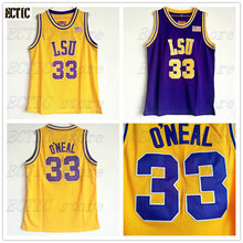 c70263982202 ... 2018 men ectic shaquille oneal cheap throwback basketball jersey shaq  oneal 33 lsu tigers college je