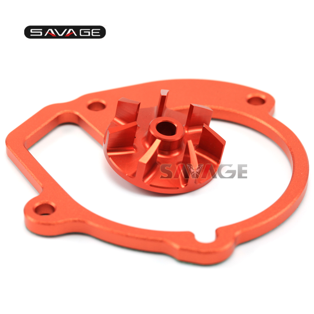 FOR KTM 450/530 EXC-R/EXC-XC-W/XCR-W 2008 09 10 2011 Motorcycle Accessories High Flow Billet Water Pump Impeller Wheel Orange meziere wp101b sbc billet elec w p