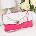 New Chain Small Women Bags Fashion Designer Girls Messenger Bag Brand Leather Crossbody Bags Candy Colors Lady Handbags
