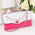 Nueva Cadena de Pequeñas Bolsas de Las Mujeres Del Diseñador de Moda Messenger Bag Girls Marca Crossbody Bolsos de Cuero Colores Del Caramelo de Señora Bolsos