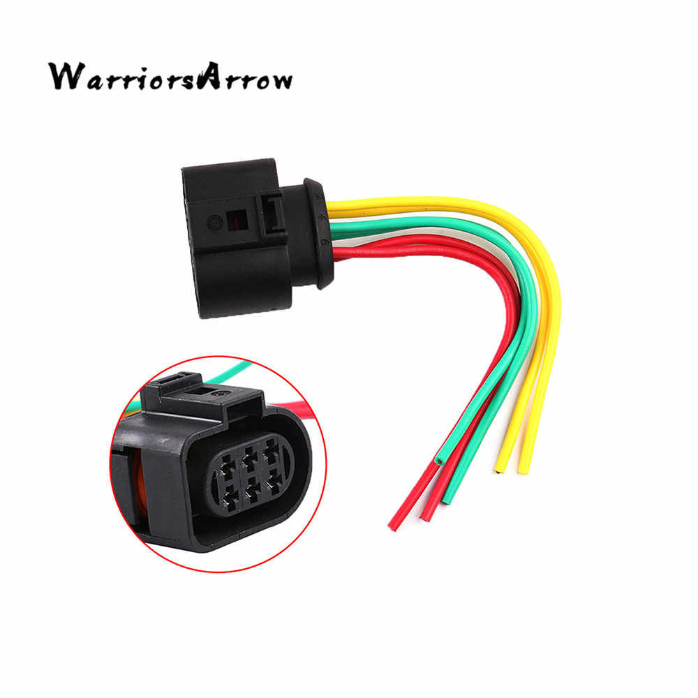 warriorsarrow oxygen sensor plug connector 6 pin wiring harness for vw golf 2004 2013 [ 1000 x 1000 Pixel ]