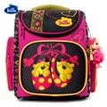 Delune/оригинальный бренд, модный детский рюкзак для мальчиков и девочек, водонепроницаемый 3D ортопедический школьный рюкзак для детей от 5 до ...