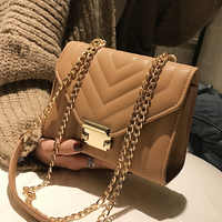 Europäischen Mode Weibliche Platz Tasche 2019 Neue Hohe Qualität PU Leder frauen Designer Handtasche Schloss Kette Schulter Messenger taschen
