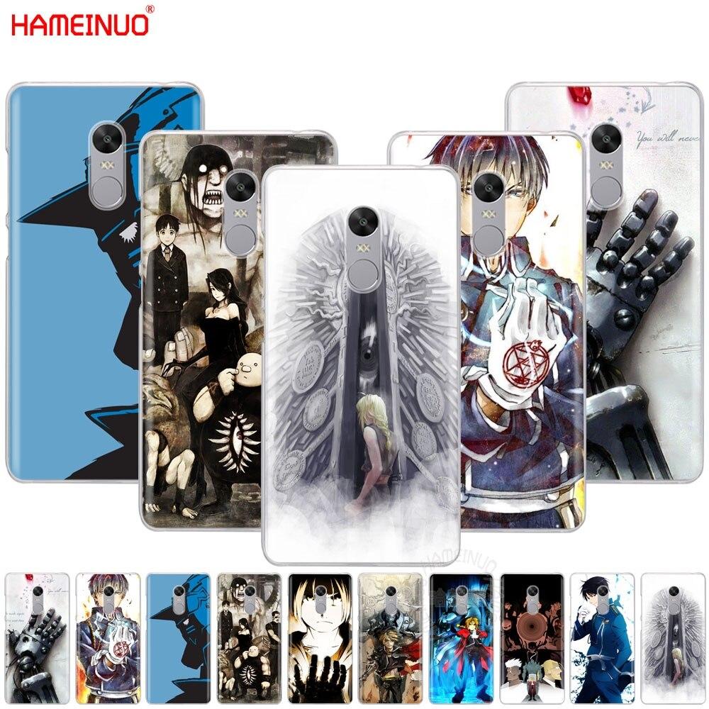 HAMEINUO FullMetal Alchemist Anime Cover phone  Case for Xiaomi redmi 5 4 1 1s 2 3 3s pro PLUS redmi note 4 4X 4A 5A