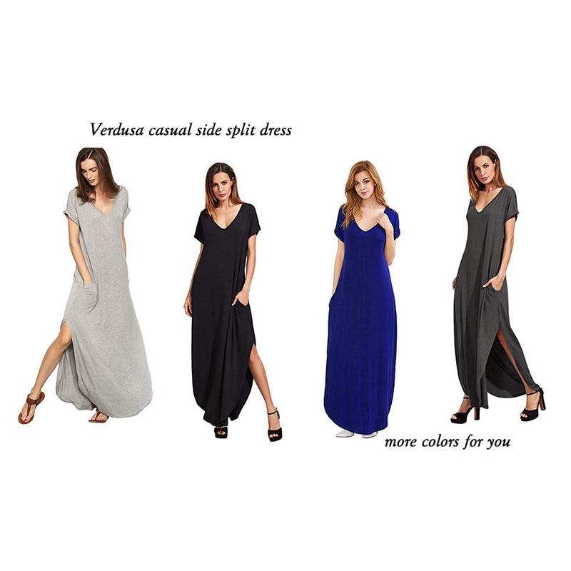 1s Womens Cap Sleeve Ladies Stretch Plain Side Split Racer Maxi Bodycon Dress