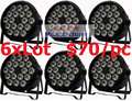 6 xLot DJ Необходимости Дискотека DMX Лампы LED Par Light 18x12 W RGBW Quad Цвет Главная Тусовщики Огни DJ Оборудование, Сценический Эффект Луча Освещения