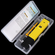 The latest version of the test accuracy 0.1 pH meter pen Electronic pH meter pH tester Portable beer brewed wine test pen(China)